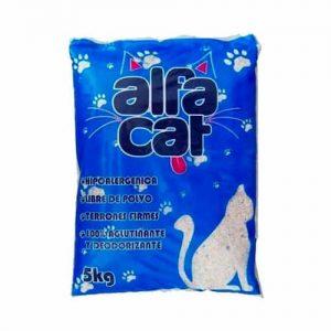 Arena Para Gato Super Absorbente Alfa Cat 5 Piezas 25 Kg Suscripción Mensual