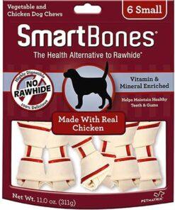 Premio Para Perro Huesos De Pollo Chicos SmartBones 6 Huesos