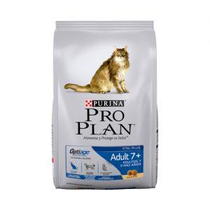 Alimento Para Gato Purina Pro Plan Adult 7+ 3Kg Suscripción Mensual
