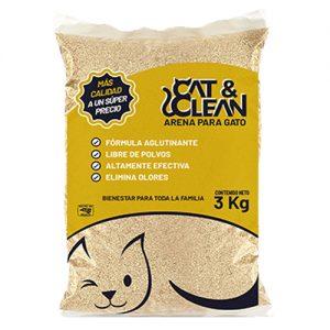 Arena Para Gato Cat & Clean Natural Bolsa 3 kilos