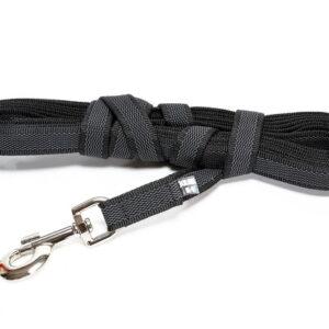 Correa Super grip leash Color & Gray series Negra (Max for 30kg dog) 14mm-15m