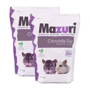 Alimento Para Chinchilla 1.3 Kg Mazuri Paquete 2 Piezas