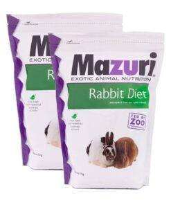 Alimento Para Conejo 1.3 Kg Mazuri Paquete 2 Piezas