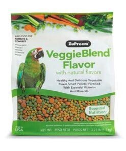 Alimento Para Loros Medianos y Grandes VeggieBlend Con Sabores Naturales 1.5kg
