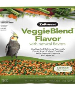 Alimento VeggieBlend con sabores naturales para loros Medianos y Grandes 907 gr