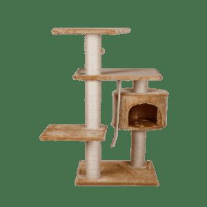 Rascador Para Gato Con Casa 112 cm