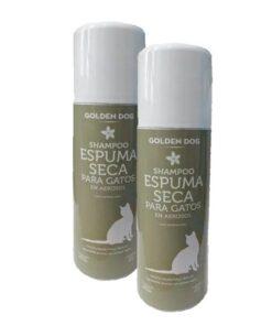 Shampoo Espuma Seca Para Gatos Golden Dog 160ml 2 Piezas